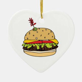Der deluxe Käse-Burger personifizieren Keramik Ornament