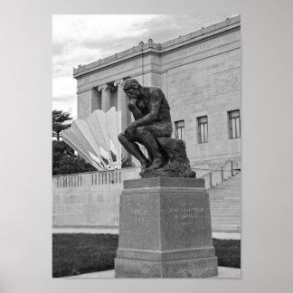 Der Denker und das Shuttlecock, Kansas City B/W Poster