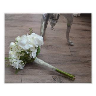 Der Der Blumenstrauß-Kunst-Druck der Braut Photo Druck