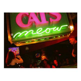 Der der Meow-Nachtklub der Katze in New Orleans Postkarten