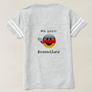 der Deutschland-T - Shirtfrauen wie gehts T-shirt