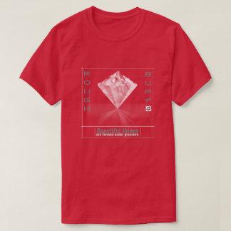 Der Diamant-T - Shirt der rauen und lederfarbenen
