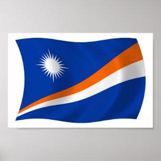 Der Die Marshallinseln-Flaggen-Plakat-Druck Poster