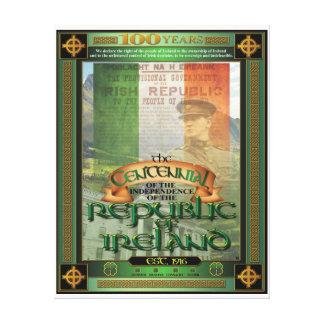 Der Die Republik IrlandCentennial. Galerie Falt Leinwand