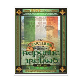 Der Die Republik IrlandCentennial. Galerie Gefaltete Leinwand
