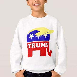 Der Donald Trumptoupee-Republikaner-Elefant Sweatshirt