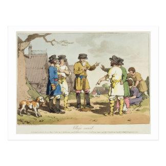 Der Dorf-Rat, geätzt vom Künstler, veröffentlichen Postkarte