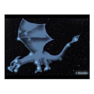 Der Drache in der Dracokonstellation Postkarte