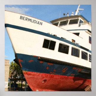 Der Druck von den Bermudas Poster