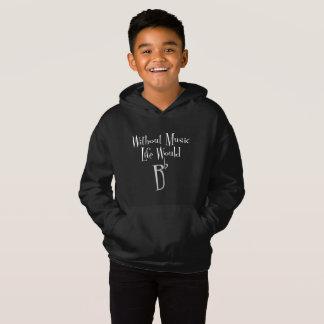 Der dunkle Hoodie flachen Jungen B