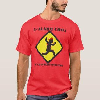 Der dunkle T - Shirt 5 Warnungs-Chili-Männer