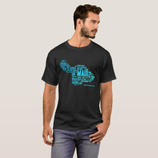 Der dunkle T - Shirt der Männer (Wort-Wolke)