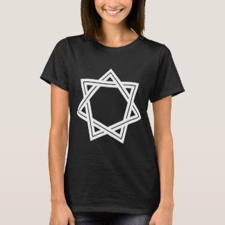 Der dunkle T - Shirt stumpfer Heptagram Frauen