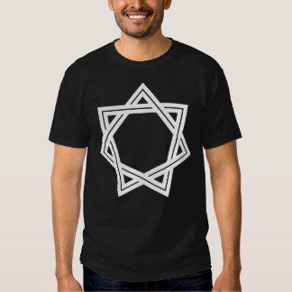 Der dunkle T - Shirt stumpfer Heptagram Männer
