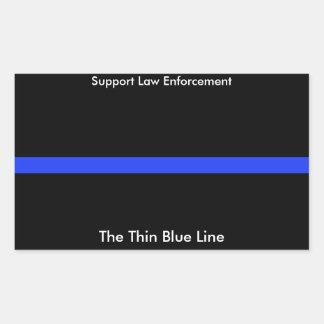 Der dünne Blue Line-Gewohnheits-Aufkleber Rechteckiger Aufkleber