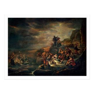 Der Durchgang des roten Meeres (Öl auf Leinwand) Postkarte