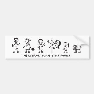 Der dysfunktionelle Stockfamilien-Autoaufkleber Autoaufkleber