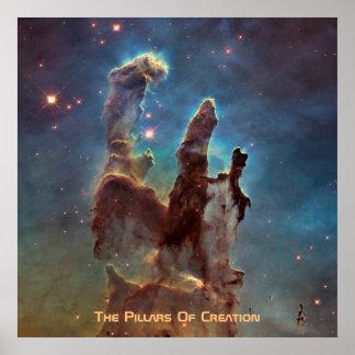 Der Eagle-Nebelfleck alias die Säulen der Poster