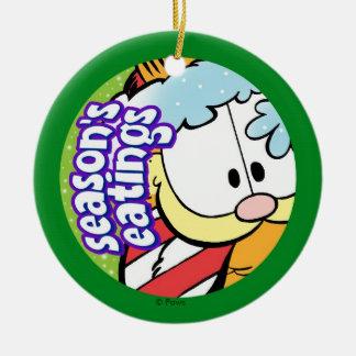 Der Eatings Garfield-Jahreszeit PERSONALISIERTE Ornamente