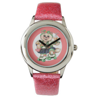 Der Edelstahl-Bügel-Uhr 2 ROLLEcat-Kindes Uhr