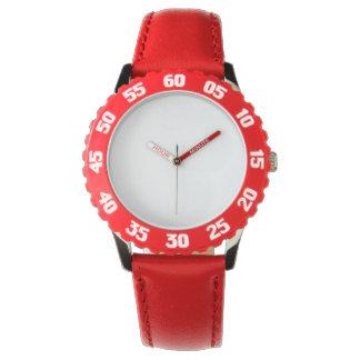 Der Edelstahl-rote Uhr des Kindes mit justierbarem