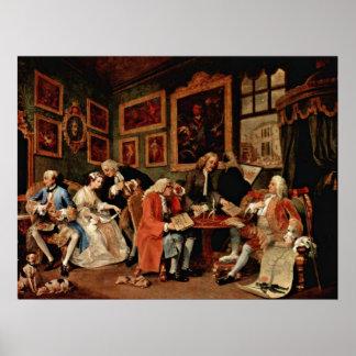 Der Ehevertrag durch William Hogarth Plakate