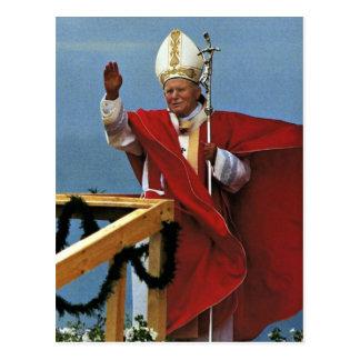 Der ehrwürdige Papst Johannes Paul II. Postkarte