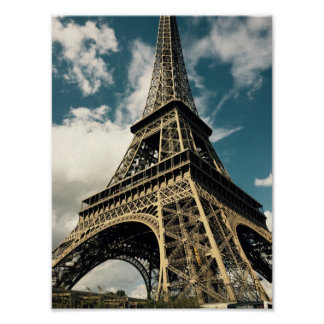 Der Eiffelturm in Paris Poster
