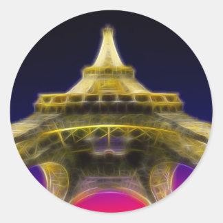 Der Eiffelturm, Paris, Frankreich Runder Sticker