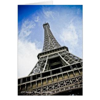 Der Eiffelturm - Paris, Frankreich Karte