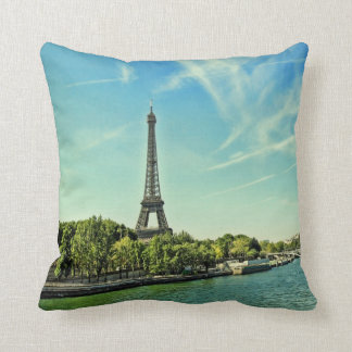 Der Eiffelturm, quadratisches Kissen Paris