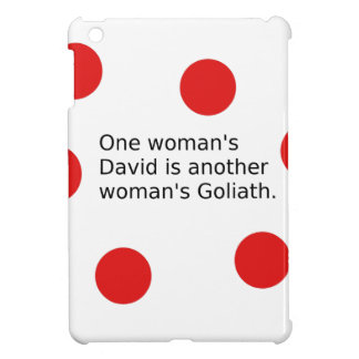 Der ein David der Frau ist der Goliath einer iPad Mini Hülle