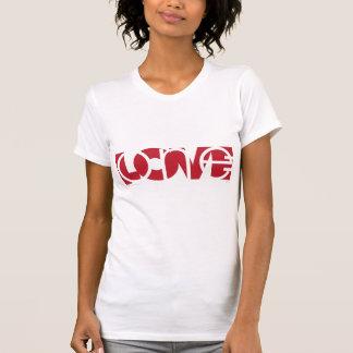 Der ein T - Shirt der Frauen der Liebe (R)