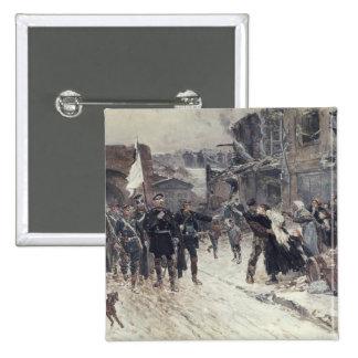 Der Eingang in Belfort des deutschen Kommandanten Quadratischer Button 5,1 Cm