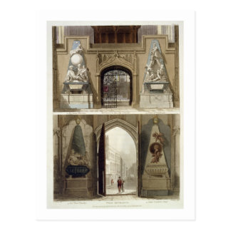 Der Eingang in den Chor und in den Westeingang, Postkarte