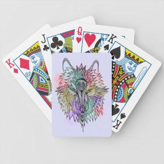 Der einsame Wolf Bicycle Spielkarten