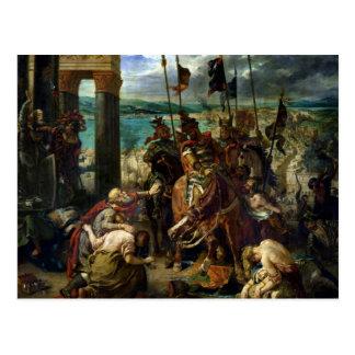 Der Eintritt der Kreuzfahrer in Konstantinopel Postkarte