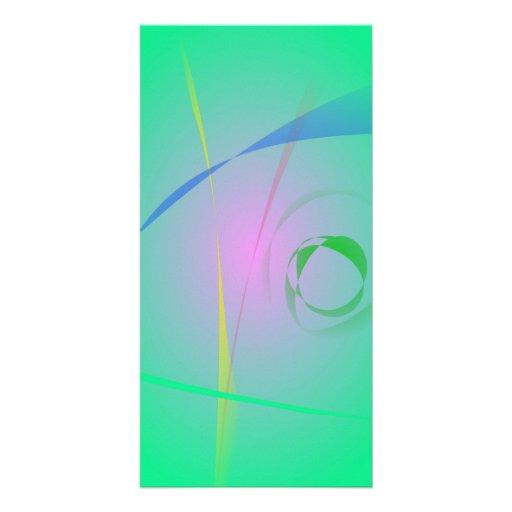 Der einzigartigste grüne abstrakte Entwurf Photo Grußkarte