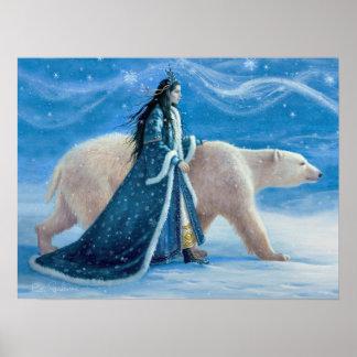 Der Eisbär und die Schnee-Prinzessin 12x16 Poster