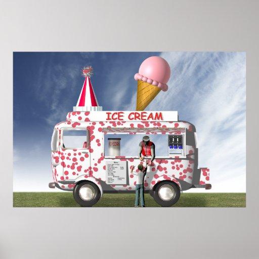 Der Eiscreme-LKW Plakate
