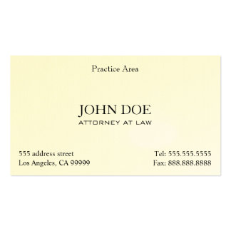 Der elegante Rechtsanwalt säubern II Visitenkarten