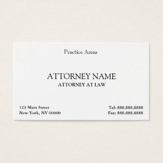 Der elegante Rechtsanwalt säubern Visitenkarte