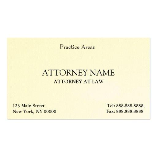 Der elegante Rechtsanwalt säubern Visitenkartenvorlage