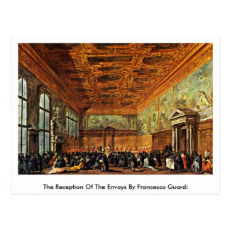 Der Empfang der Abgesandten durch Francesco Guardi Postkarte