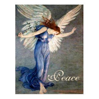 Der Engel des Kranes von Friedensweihnachten Postkarte