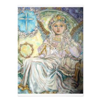 Der Engel des Weihnachten stieg Personalisierte Einladung