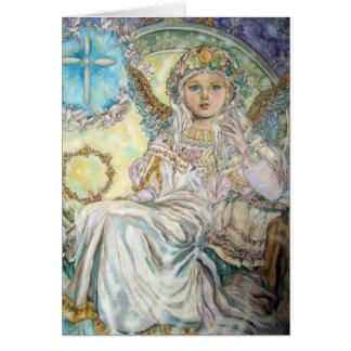 Der Engel des Weihnachten stieg Grußkarte