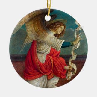 Der Engel Gabriel - Gaudenzio Ferrari Rundes Keramik Ornament