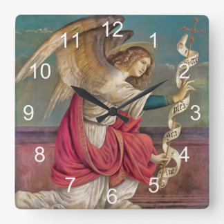 Der Engel Gabriel Quadratische Wanduhr