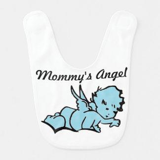 Der Engels-Baby-Schellfisch-Blau der Mama Lätzchen